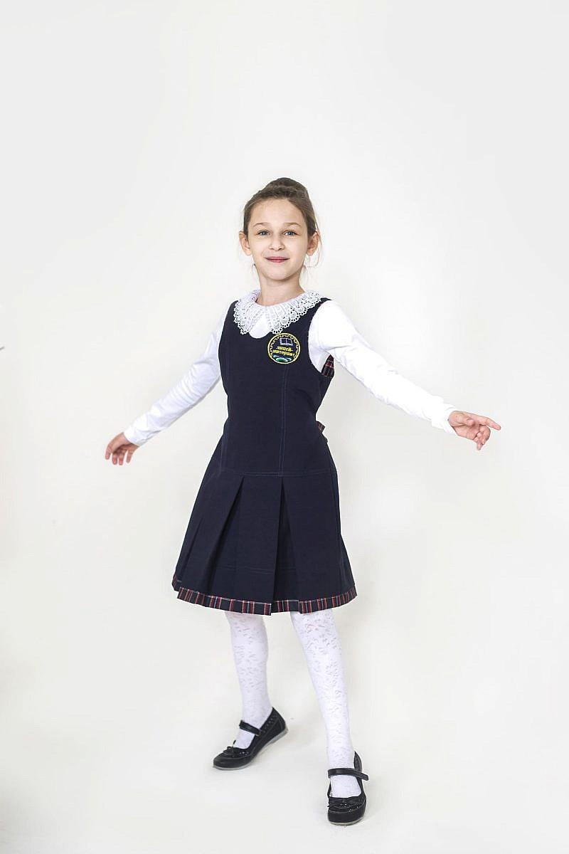 Сарафан тканевый для девочки (пикачу + клетка) в Челябинске, Магнитогорске, Учалах, Уфе, Белорецке