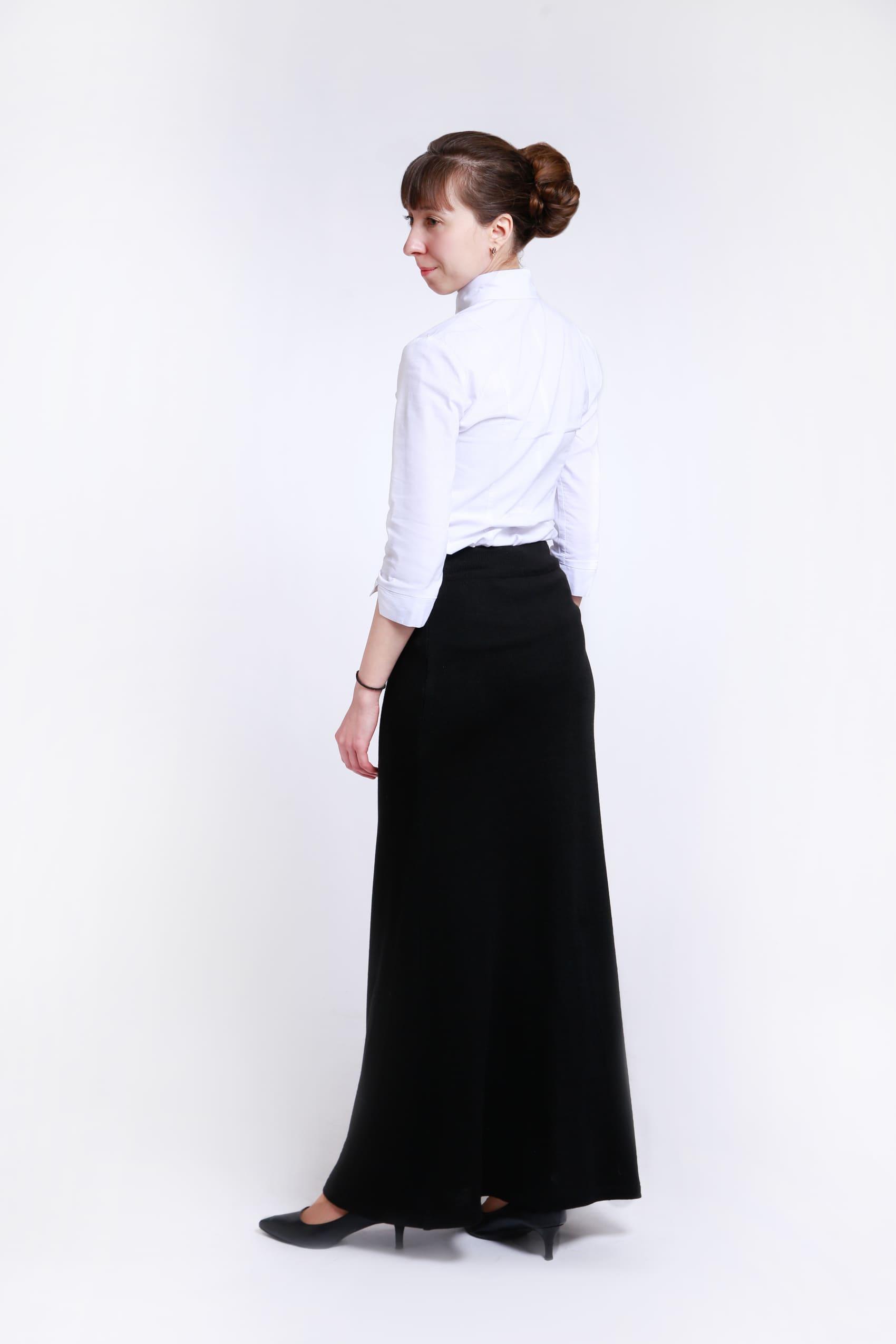 Трикотажная юбка для учителя